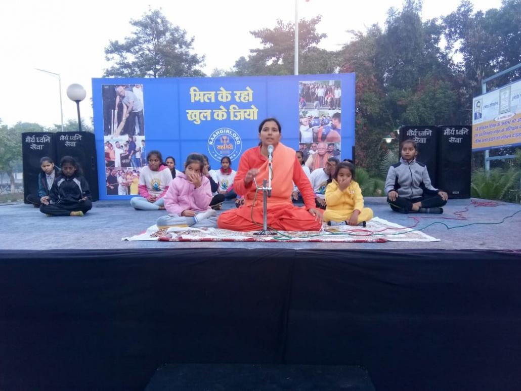 राहगिरी के कार्यक्रम में प्रशासन ने लोगों को स्वस्थ्य और प्रसन्न रहने के लिए प्रेरित किया-