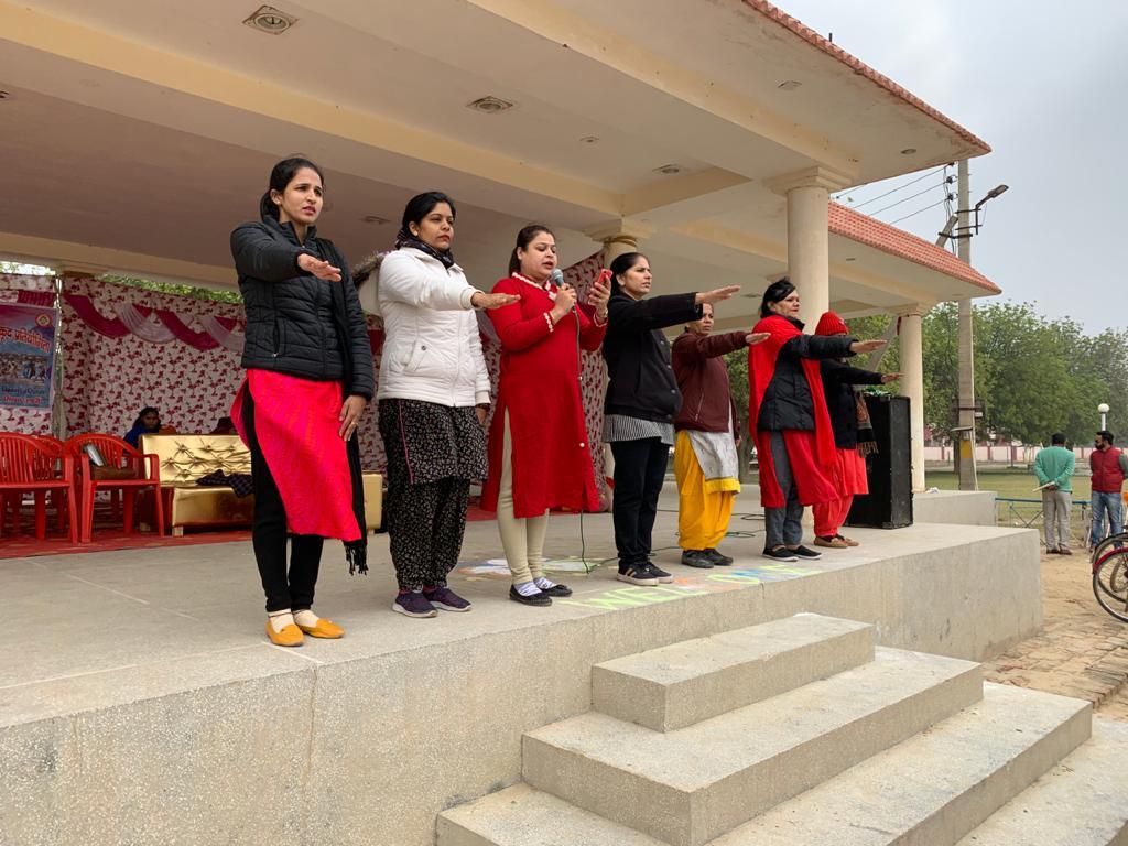 महिला एवं बाल विकास विभाग (शहरी) द्वारा स्थानीय पुलिस लाईन के खेल मैदान में खंड स्तरीय महिला खेलकूद प्रतियोगिताओं का आयोजन किया गया।