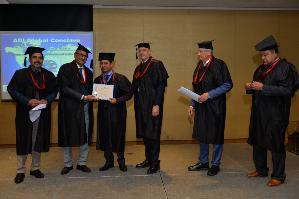 Prof. Jagat Bhushan, Principal, Dr. Harvansh Singh Judge Institute of Dental Sciences, Panjab University was awarded Fellowship of the Academy of Dentistry International (ADI).