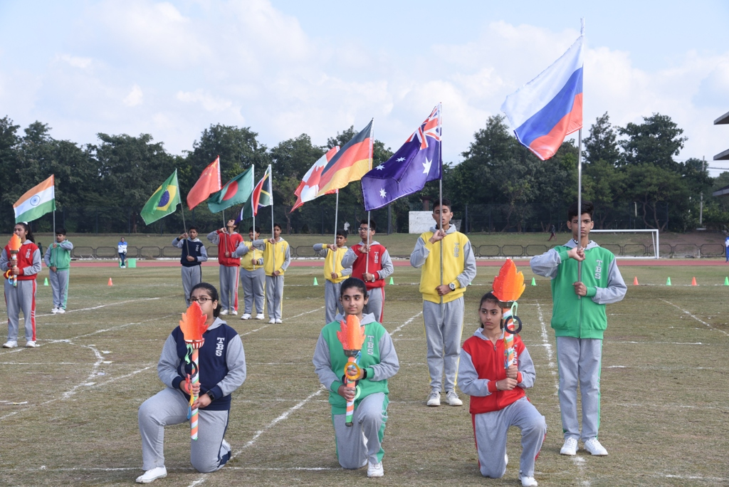 द ब्रिटिश स्कूल के वार्षिक स्पोर्ट्स डे पर 800 विद्यार्थियों ने भाग लिया