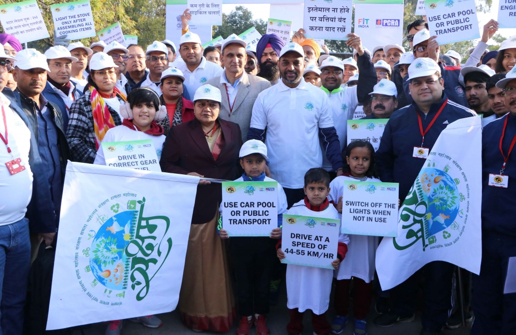 Saksham Fit India Walkathon organized on Feb 9, 2020 at Sukhna Lake, Chandigarh by PCRA & GAIL (India) Ltd.