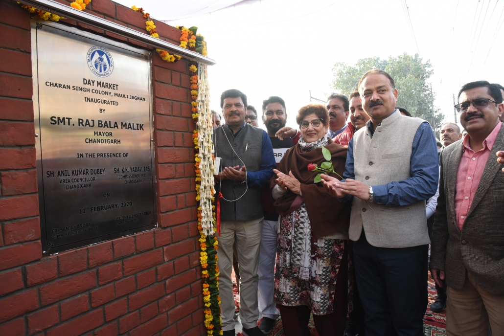 Mayor Inaugurates Day Market in Charan Singh Colony, Mauli Jagran
