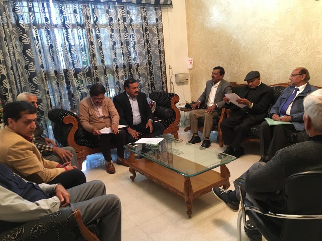 एसोसिएशन ऑफ पार्क डेवलपमेंट सोसायटी पंचकूला की एक बैठक एपीडीएस अध्यक्ष ओपी सिहाग की अध्यक्षता में सेक्टर 21 में एसोसिएशन की संयुक्त सचिव श्रीमति प्रियंका पुनिया के आवास पर हुई।