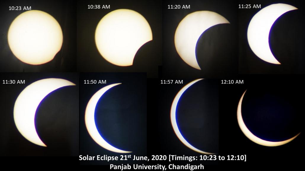 PU Physics Deptt Views Solar Eclipse